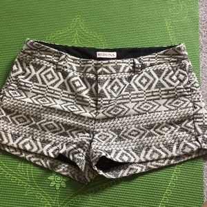 Black and off white shorts